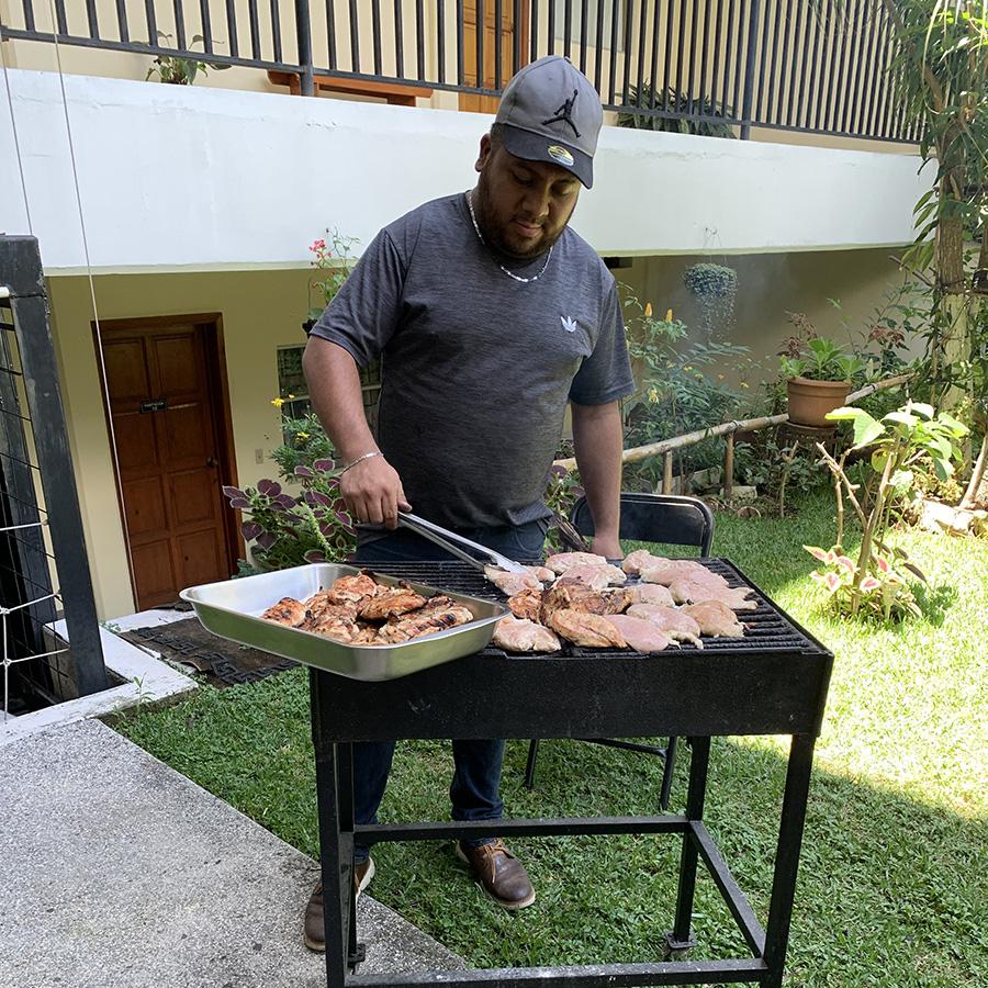 SEMILLA Casa Emaús Grilling Lunch, Guatemala City, Guatemala